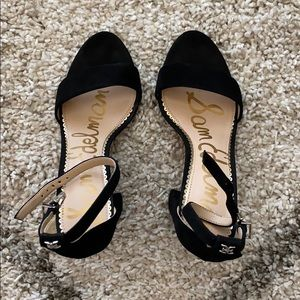 Black Suede Sandals Sam Edelman
